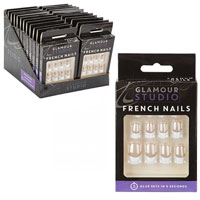 12 Pack French False Nails With Glue