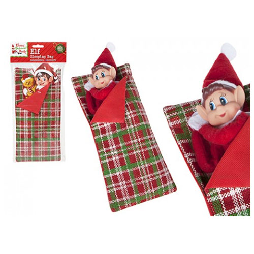 Christmas Patten Elf Sleeping Bag With Pillow