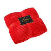 Luxury Throw Wave Red