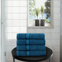 4 Pack Hand Towels Dickens Teal