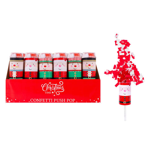 Christmas Confetti Push Pops
