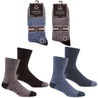 Mens Cosy Socks with Grippers