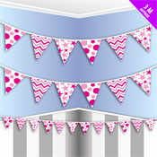 Party Bunting Pink