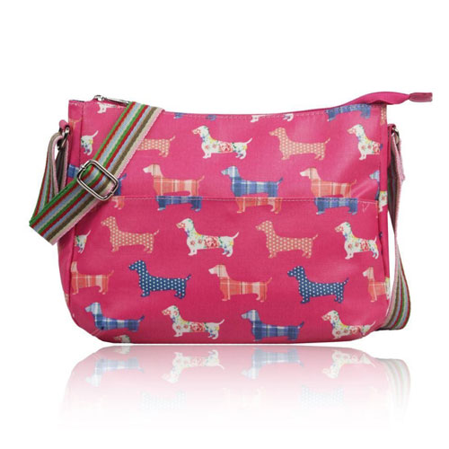 Sausage Dog Multi Purpose Crossbody Bag Fuchsia