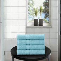 4 Pack Hand Towels Dickens Sky Blue