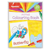 Animal Colouring Books with Felt Tip Pens
