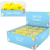 Easter Chicks Decorations 6 Pack
