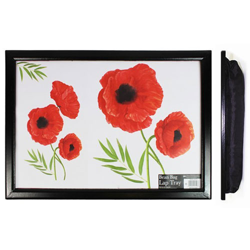Adult Lap Tray With Poppy Design
