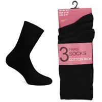 Ladies Black Lycra Socks