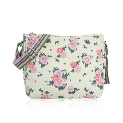 Blossom Design Cross Body Bag Beige