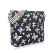 Foil Butterfly Crossbody Bag Black