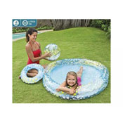 Inflatable Circles Fun Pool Set With Ball & Float