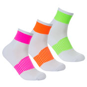 Ladies Soft Cushion Sport Trainer Socks Bright Stripes