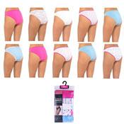 Ladies Assorted Designs High Leg Briefs 5 Pack