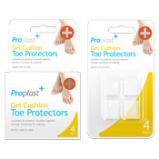 Gel Cushion Toe Protectors 4 Pack