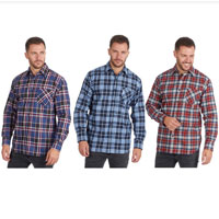 Mens Flannel Check Design Shirt