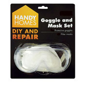 4 Piece Safety Goggle and Mask Set