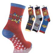 Comic Book Hero Boys Socks