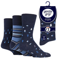 Mens Gentle Grip Socks Dimensional
