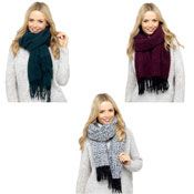 Ladies Multi Colour Fleece Scarf