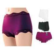 Ladies Luxury Midi Briefs with Lace
