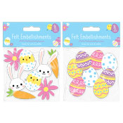 Easter Felt Embellishments 8 Pack
