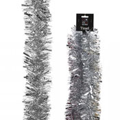 Christmas Decorative Silver Thick & Thin Tinsel