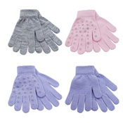 Childrens Thermal Magic Gloves With Stars Gripper