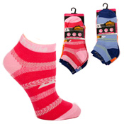 Ladies ProHike Trainer Socks Zig Zag