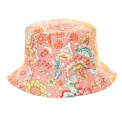 Ladies Cotton Bucket Hat Paisley Print