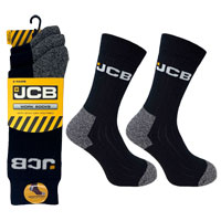 JCB 3 Pack Mens Black Work Sock