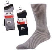 Mens Ribbed Socks with Lycra