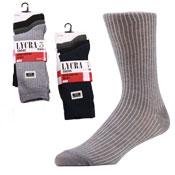 Mens Ribbed Socks with Lycra