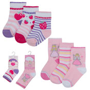 Baby Novelty Design Socks Princess & Fruits