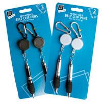 Retractable Belt Clip Pen 2 Pack