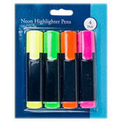 Neon Highlighter Pens 4 Pack