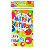 Happy Birthday Circles Pattern Tablecloth