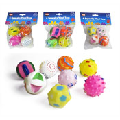 4 Squeaky Toy Balls