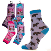Girls Going to the Zoo Novelty Socks