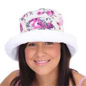 Ladies Cotton Sun Hats with Turn Up
