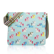 Unicorn Canvas Crossbody Bag Turquoise