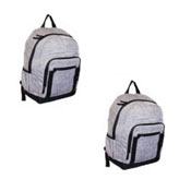 Official JCB Front Zip Twill Backpack Grey