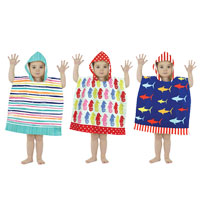 Mini Poncho Pal Hooded Beach and Bath Robes