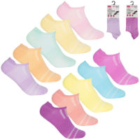 Ladies 5 Pack Trainer Socks Mesh Insert