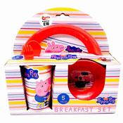 Peppa Pig 5 Piece Breakfast Set