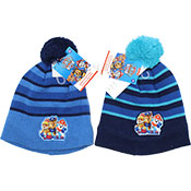 Official Boys Paw Patrol Blue Knitted Bobble Hat