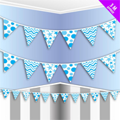 Party Bunting Blue
