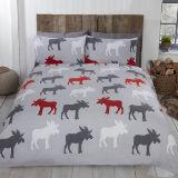 Brushed Cotton Duvet Set Moose Grey