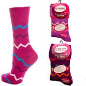 Ladies Flexi-Top Zig-Zag Socks