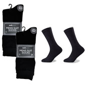 Socksation Mens Luxury Suit Socks Black